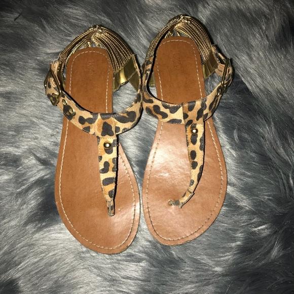 638d808aa14c Cheetah Sandals. M 5ac1869a72ea8816009a30d7